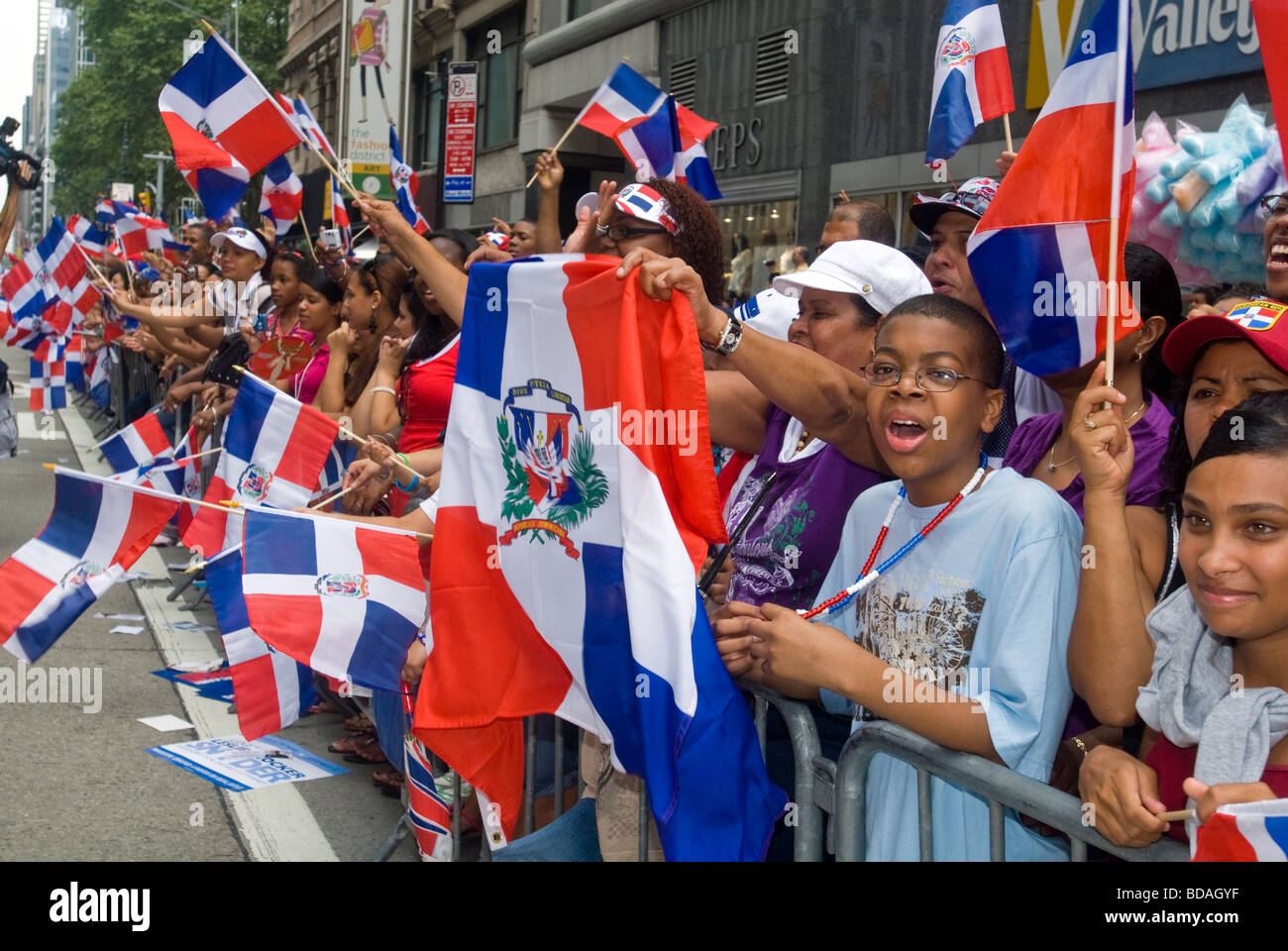 Th Annual Dominican Independence Day Parade In New York Stock - Dominican republic independence day