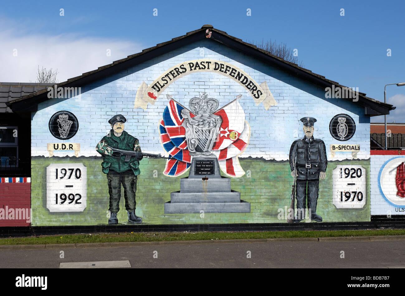 Loyalist murals newtownards road east belfast belfast for Mural northern ireland
