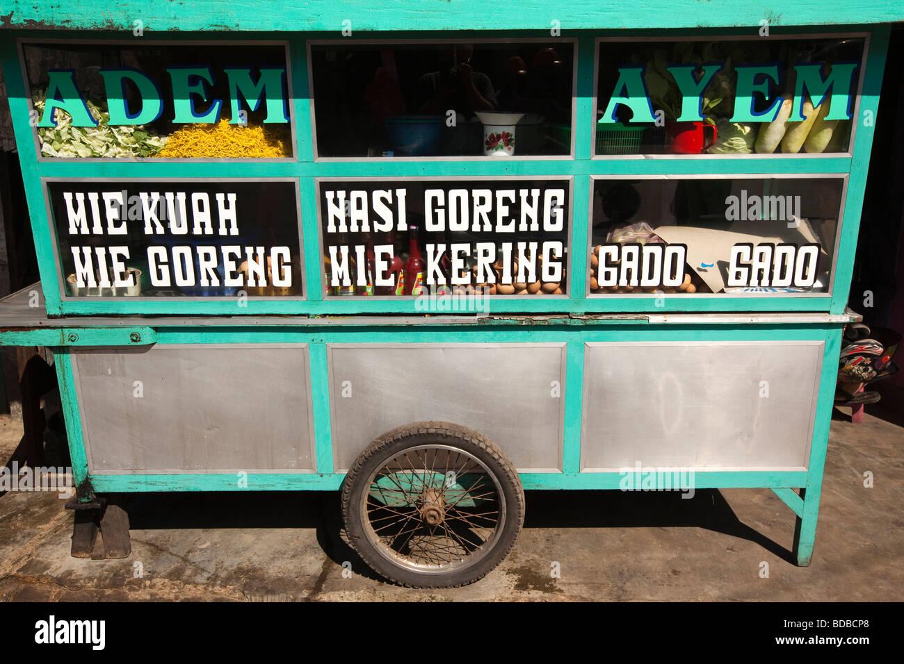 Indonesia Sulawesi Barru Small Street Warung Stall Selling Cheap Fast Food