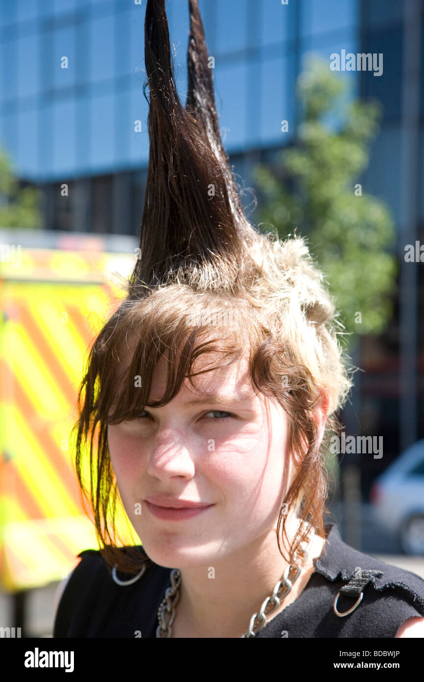 A Punk Girl Rae Ray Riots With A Large Mohican