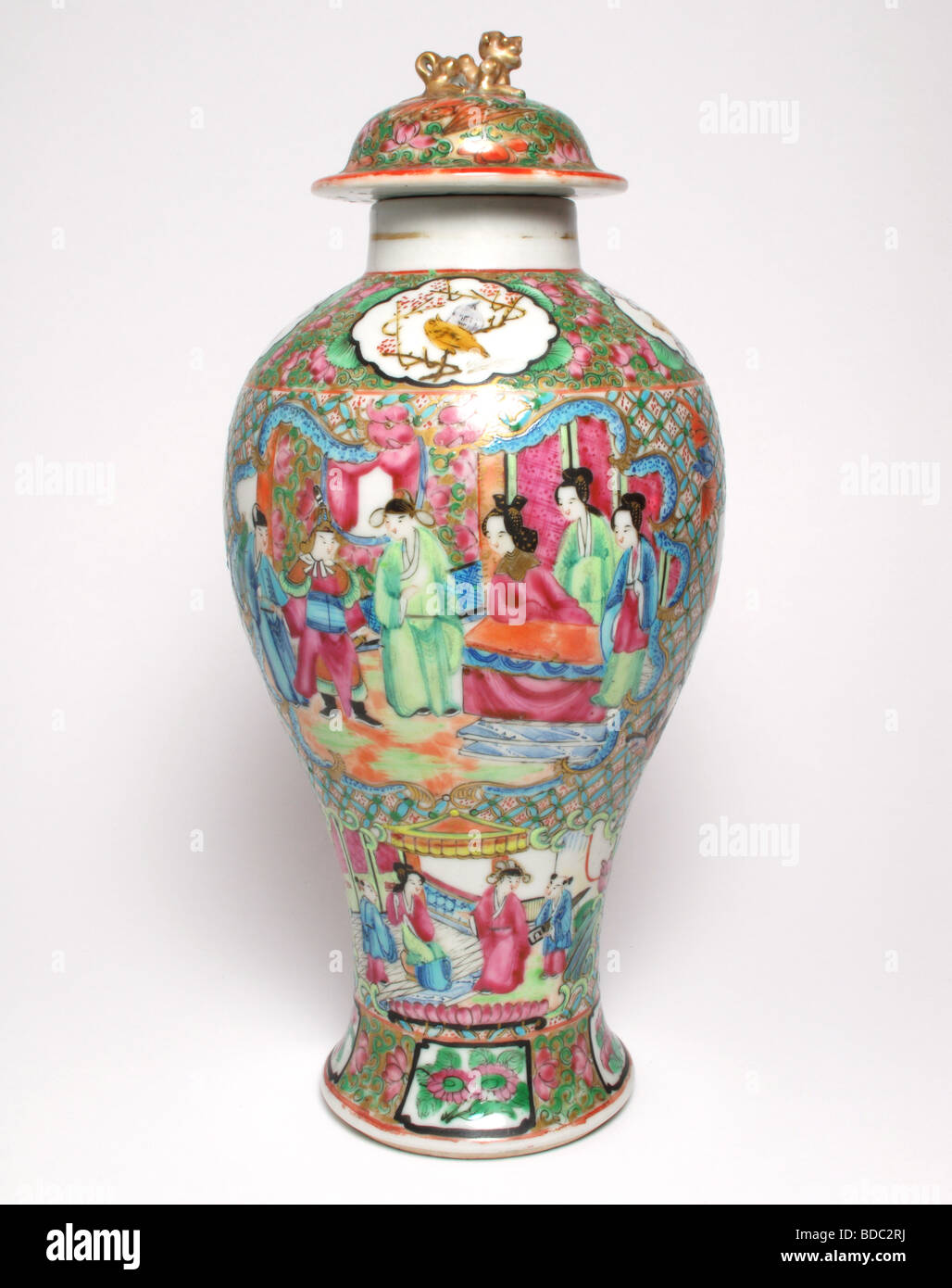 Antique chinese canton famille rose porcelain vase and cover stock antique chinese canton famille rose porcelain vase and cover reviewsmspy