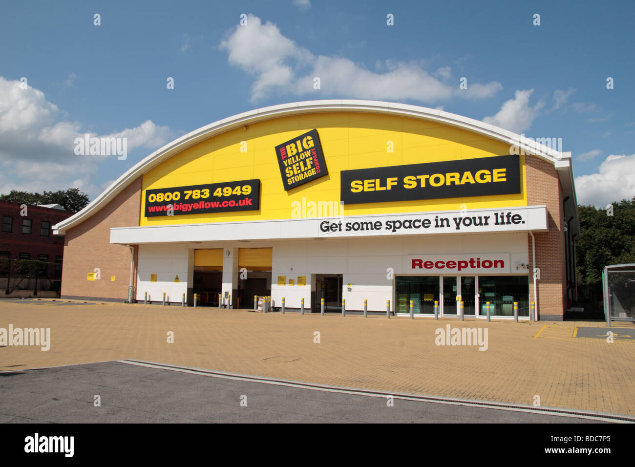 the big yellow self storage facility in southall ealing west stock photo royalty free image. Black Bedroom Furniture Sets. Home Design Ideas