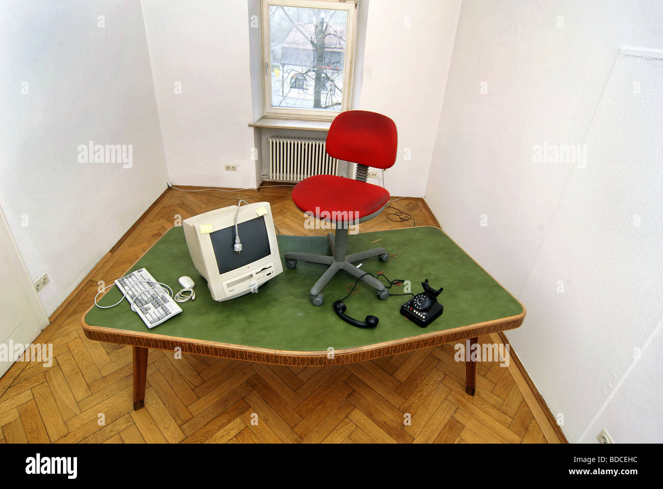 Office Germany Room Empty Chair Parquet Job Employment