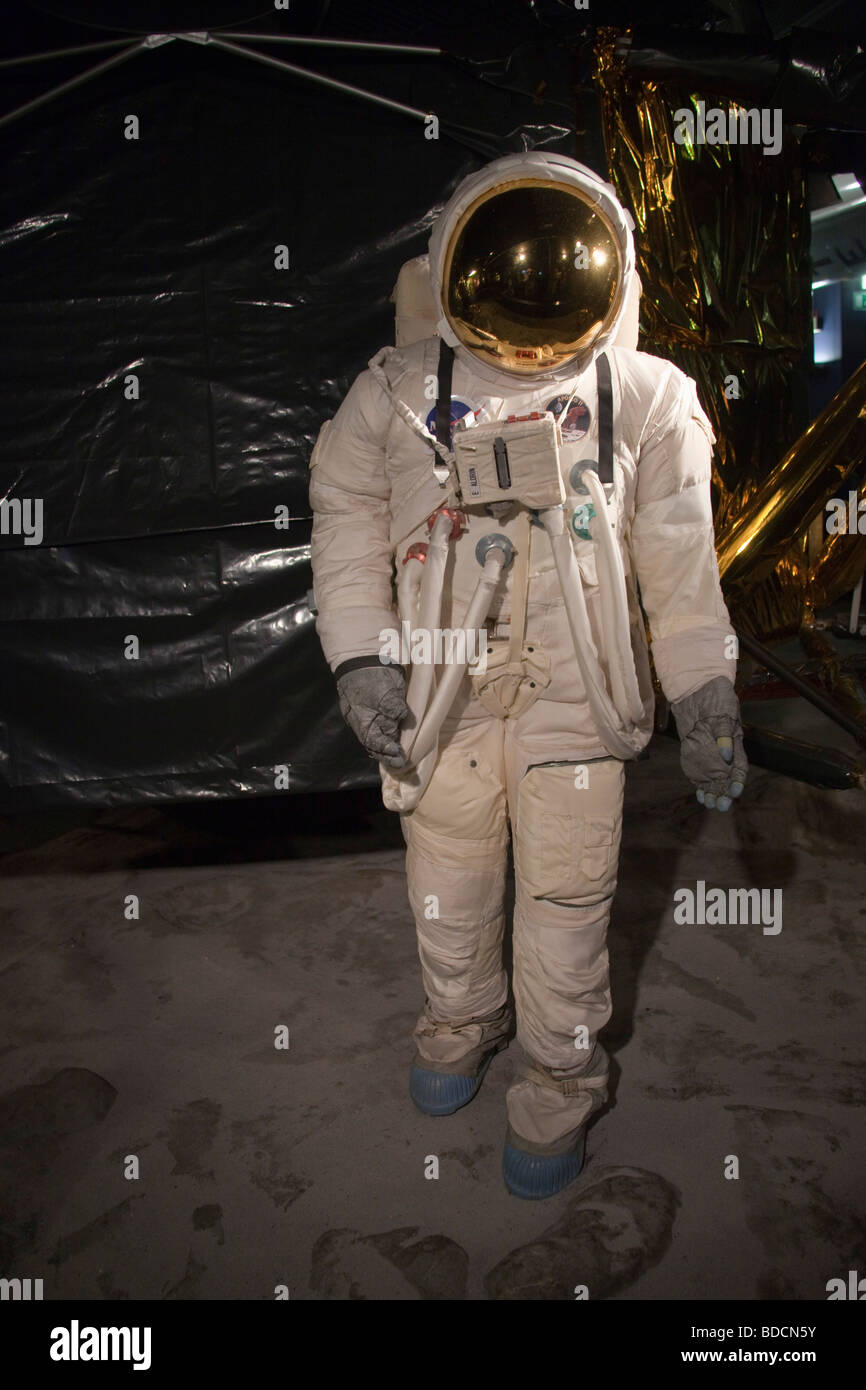 Astronaute in suit with full space suit. Science museum ...