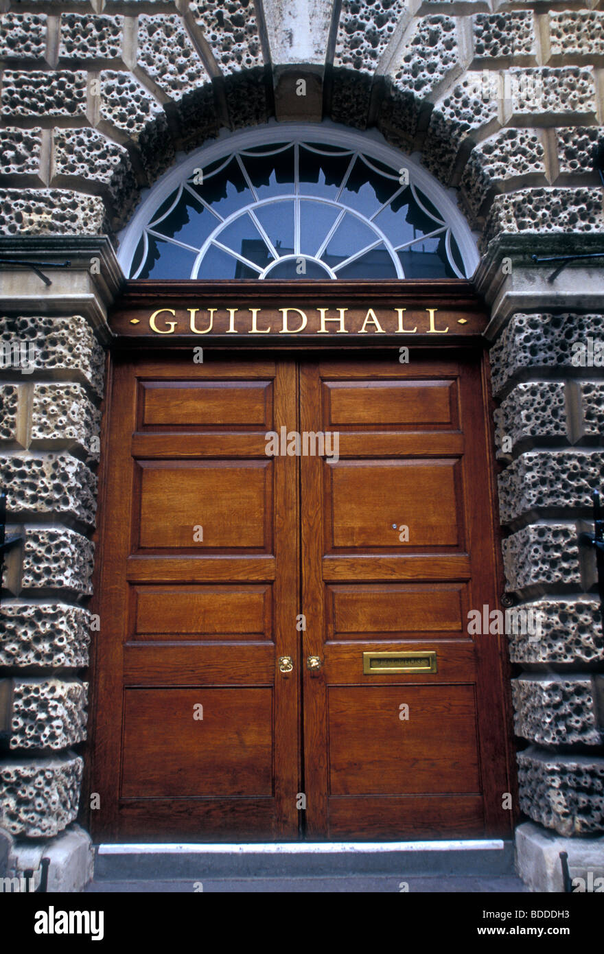 entrance, wooden doors, The Guildhall, Guildhall, Town Hall, High ...
