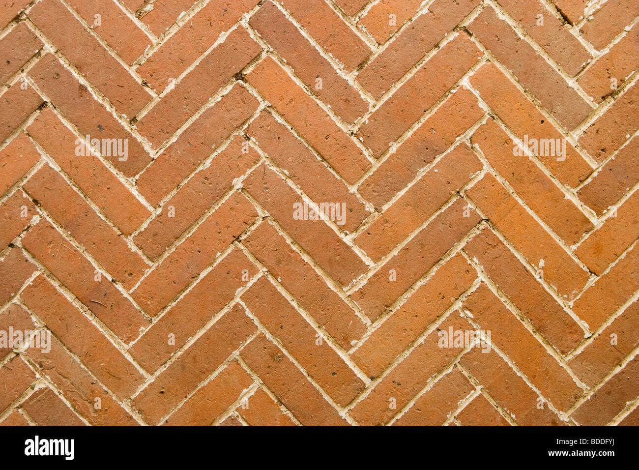 Brick Paver Patterns Brick Paving In Herringbone Pattern Stock Photo Royalty Free