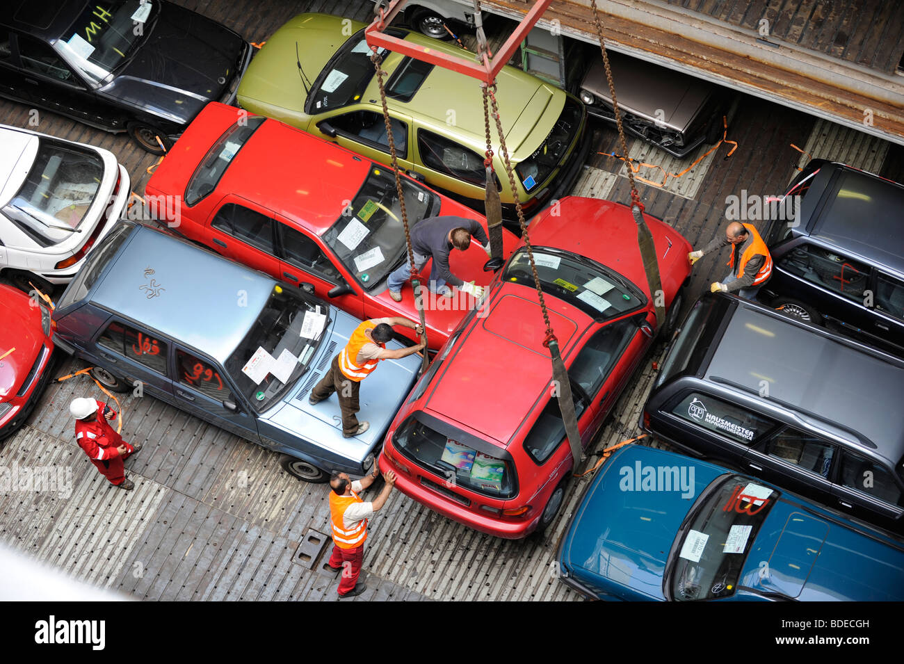 Germany Hamburg Loading Of Used Cars For Export To Africa