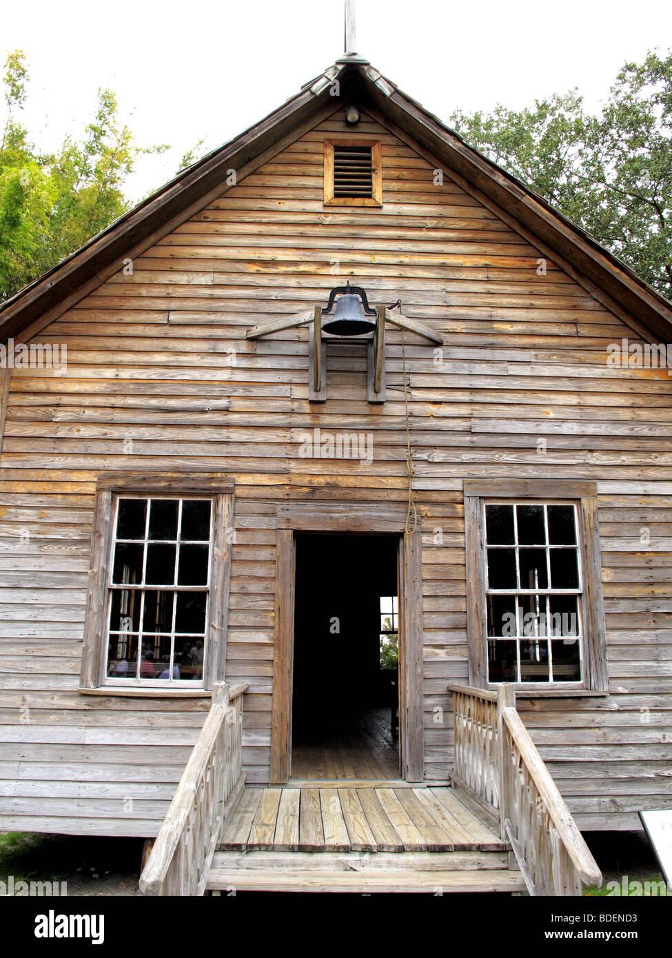 Old historic one room school house in cracker country Cheapest style house to build