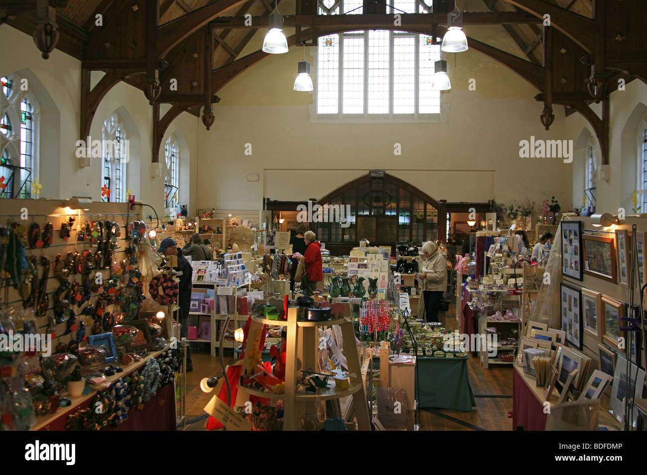 Inside the Lyn Valley Art and Craft Centre housed in a converted ...
