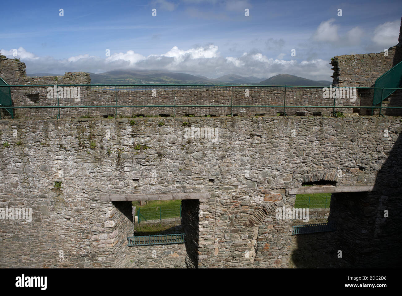 view from the interior walls of 13th century greencastle royal