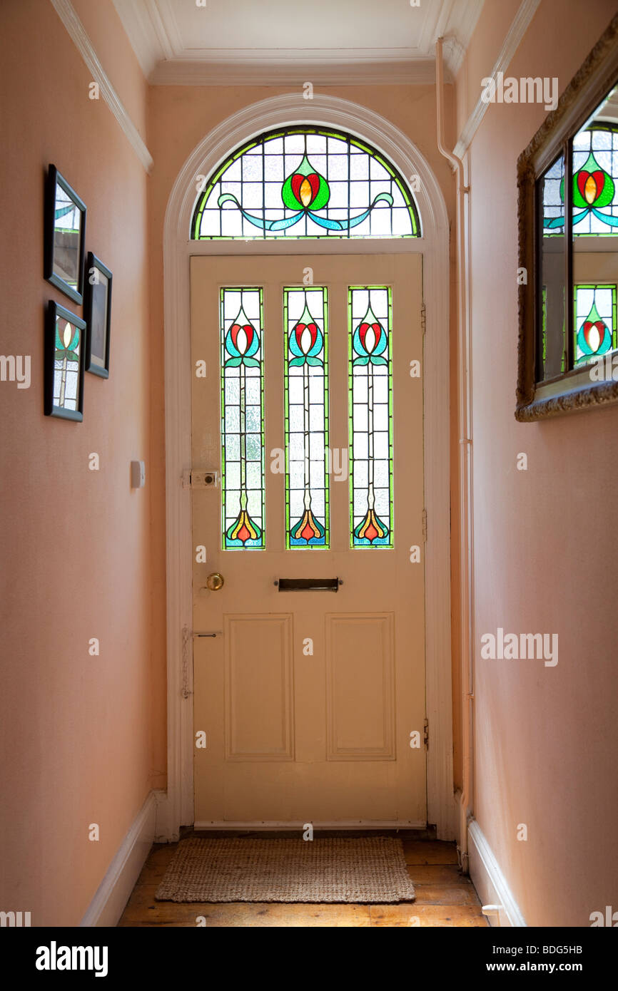 Victorian Style Front Door With Stained Glass