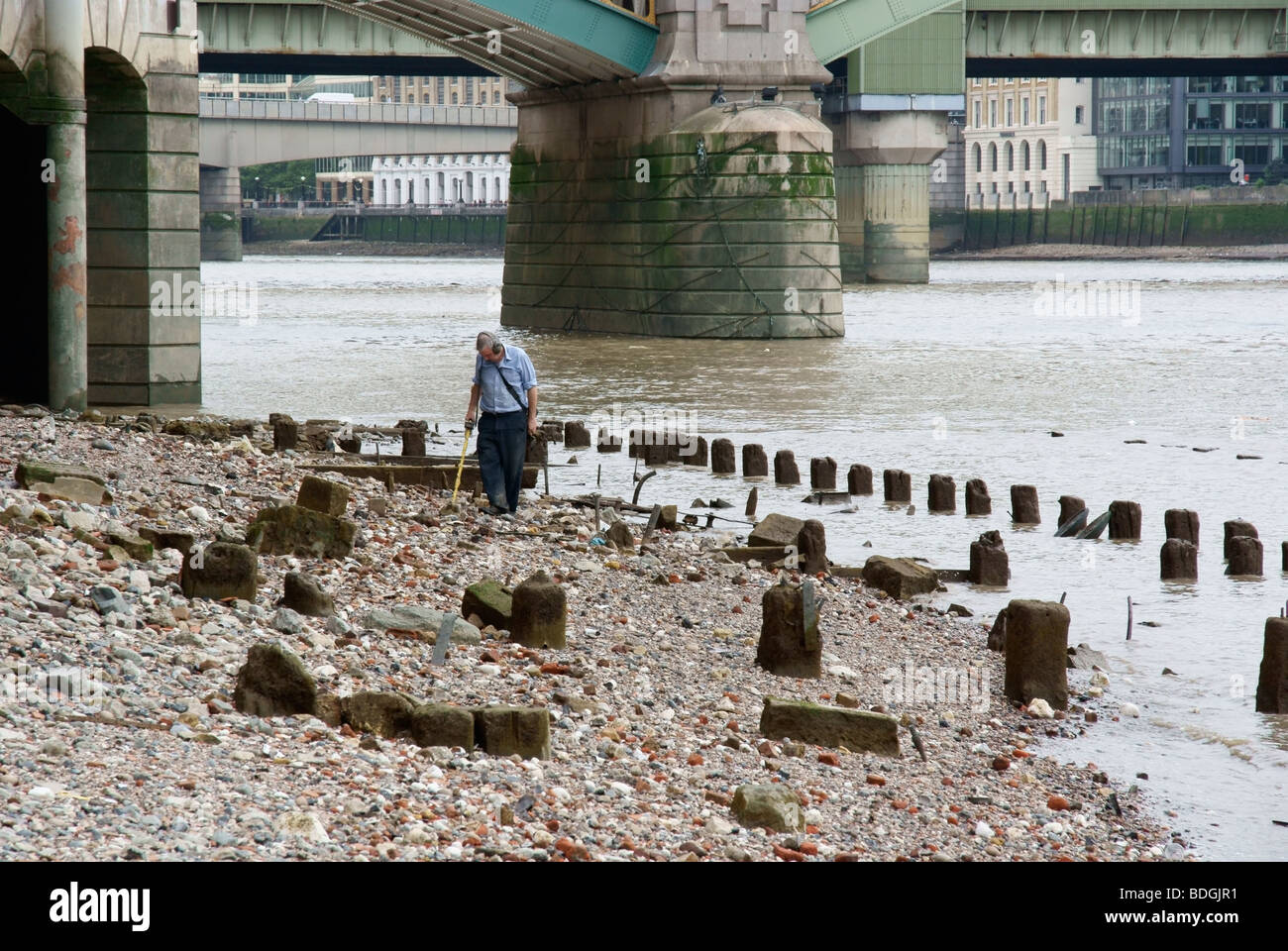 Jew Detector: A Man Searches The Thames Foreshore With A Metal Detector