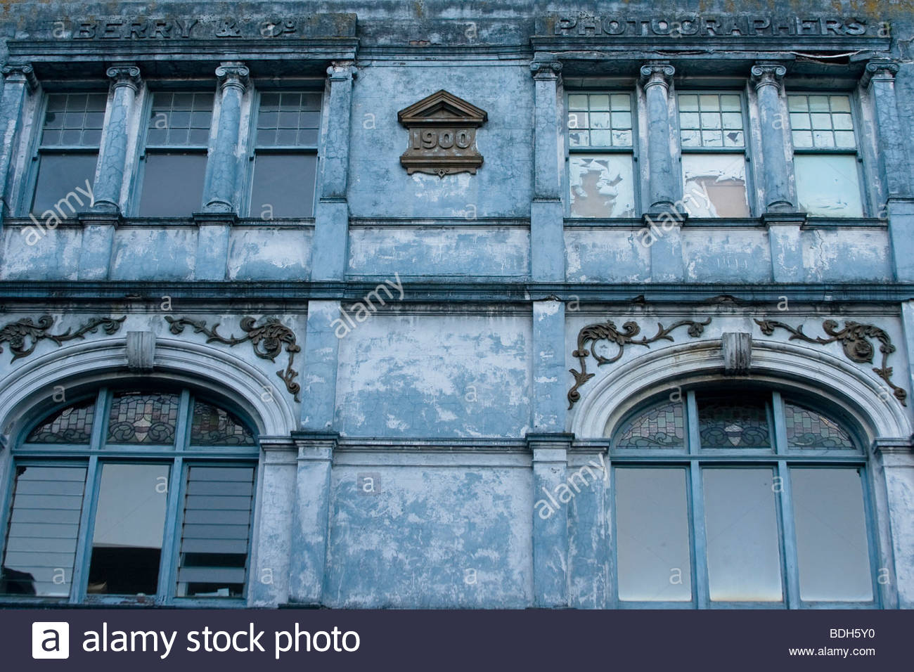 stock photo wellington new zealand cool old building architecture blue