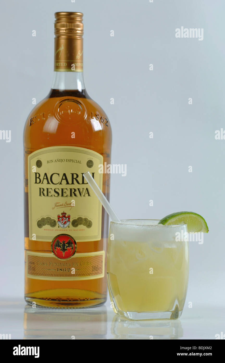 Bacardi rum cocktail stock photo royalty free image for Mixed drinks with white rum