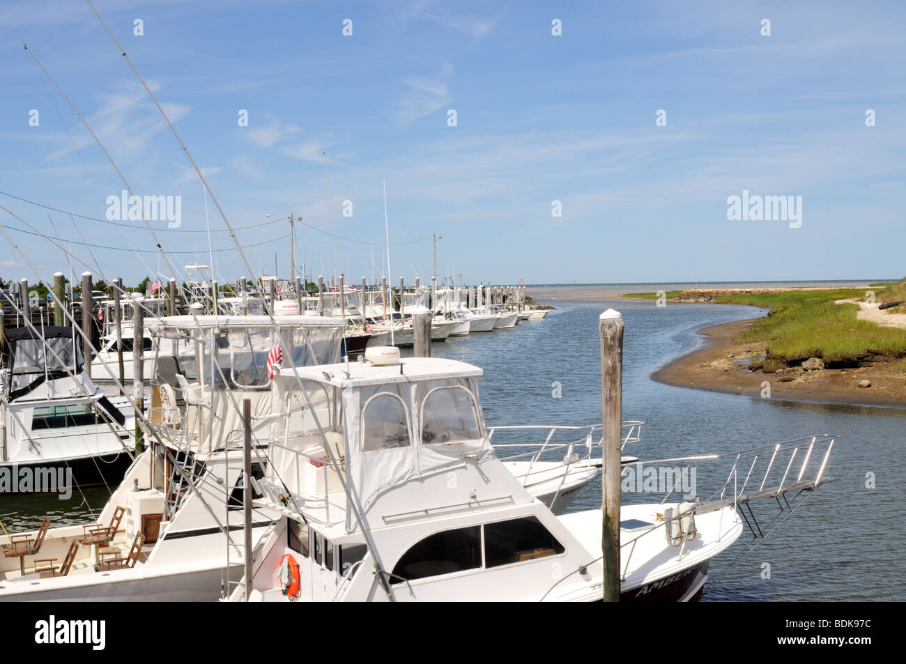 charter fishing boats docked in rock harbor orleans cape