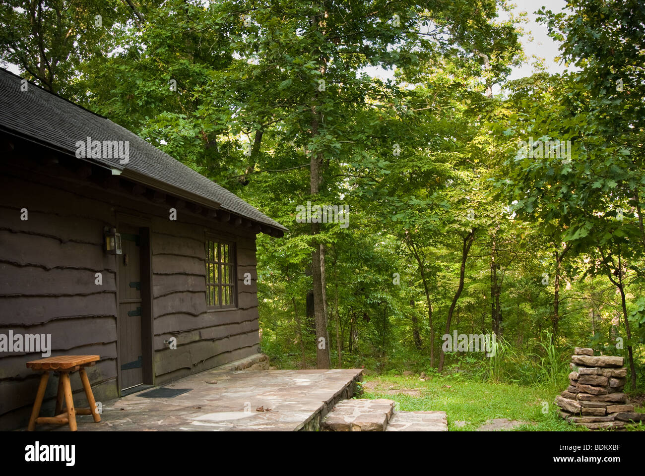 Very Impressive portraiture of Stock Photo Rustic cabin number 5 of 18 at Devil's Den State Park in  with #4C5F18 color and 1300x960 pixels