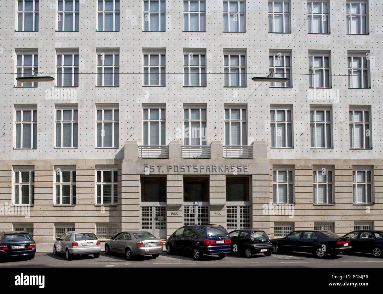 Modern Architecture Vienna postsparkasse modern architecture vienna stock photos