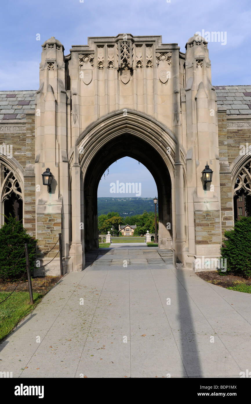 Cornell University, Walkway And Arches At Lyon Hall   Stock Image