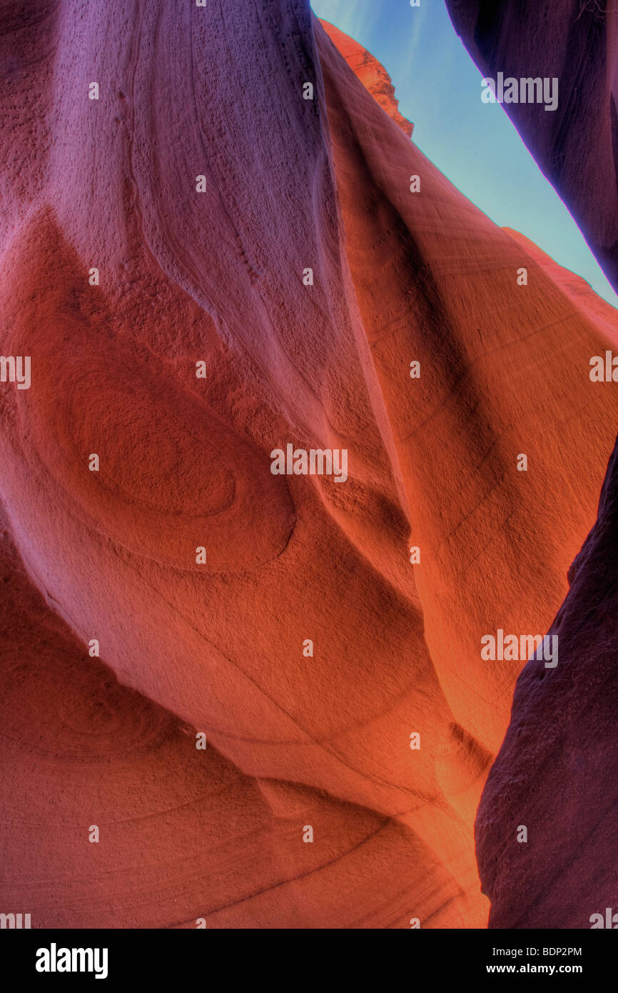 Colorful rock formations at Lower Antelope Canyon Arizona Stock