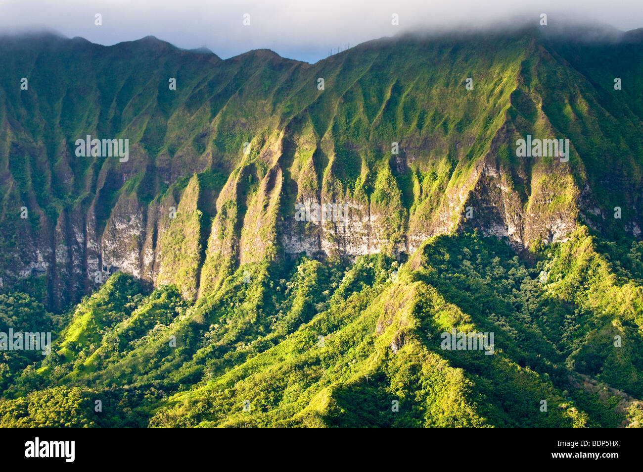 The cliffs of the koolau mountains on the windward side of for The windward