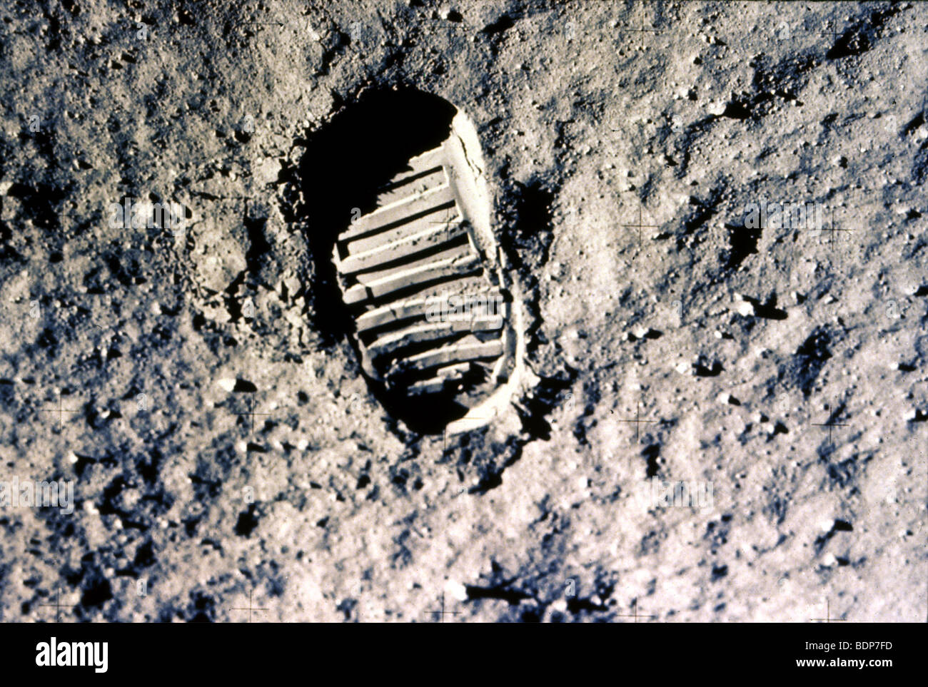 MOON FOOTPRINT left by Neil Armstrong on the Apollo 2 ...