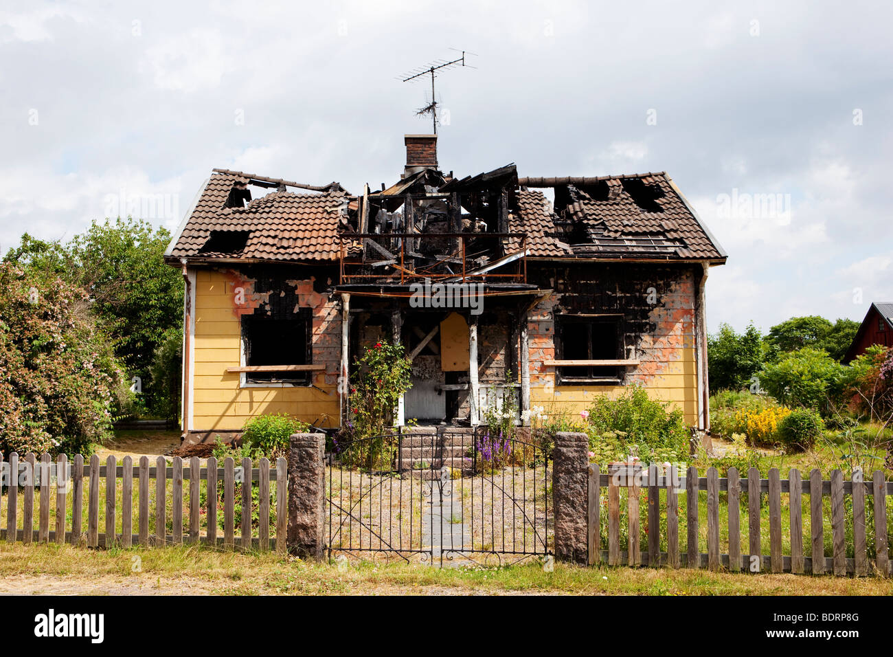 Wreck Of A Burned Out House Stock Photo Royalty Free