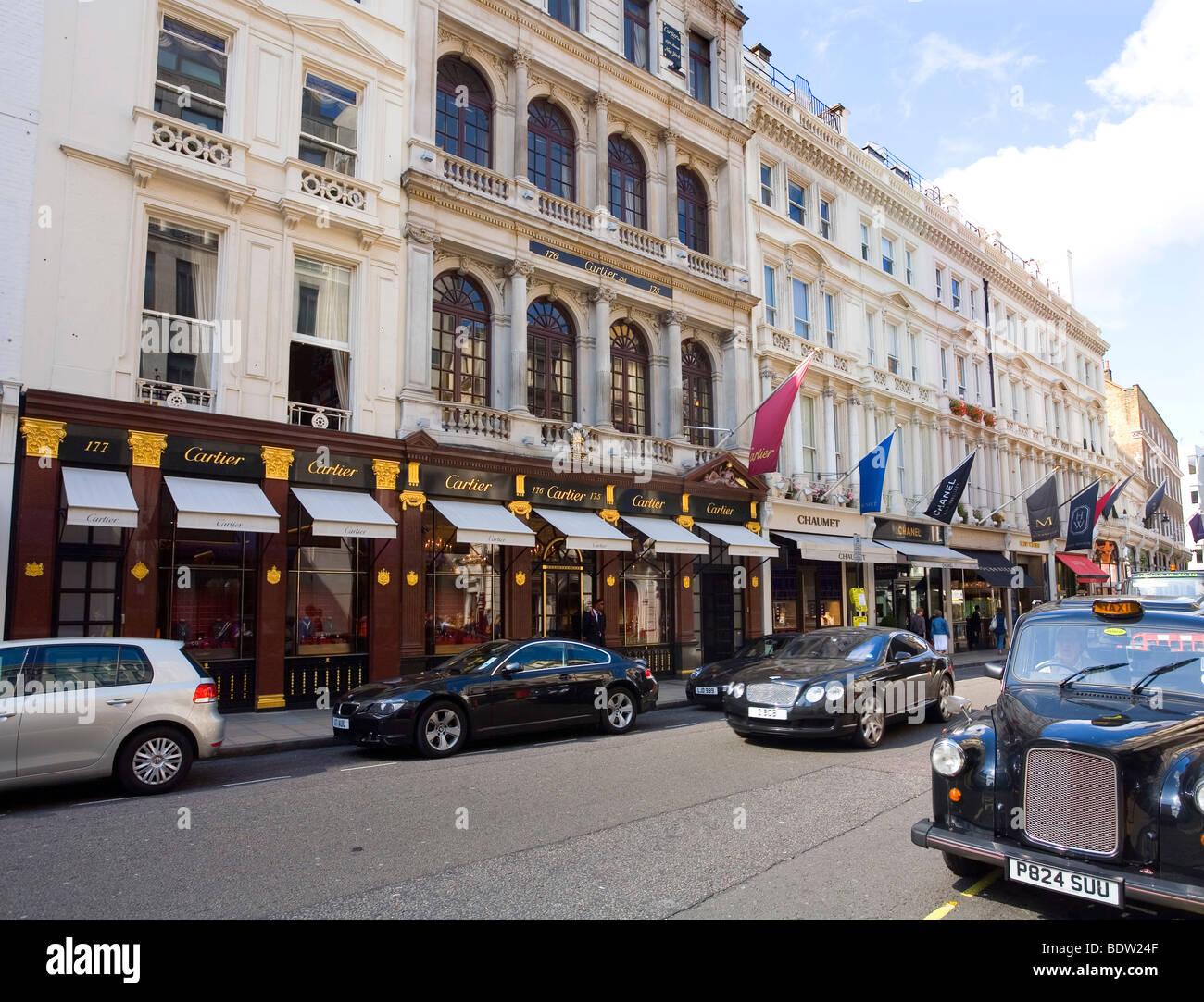 Myfair Com: Cartier Jewellery In New Bond Street Mayfair London