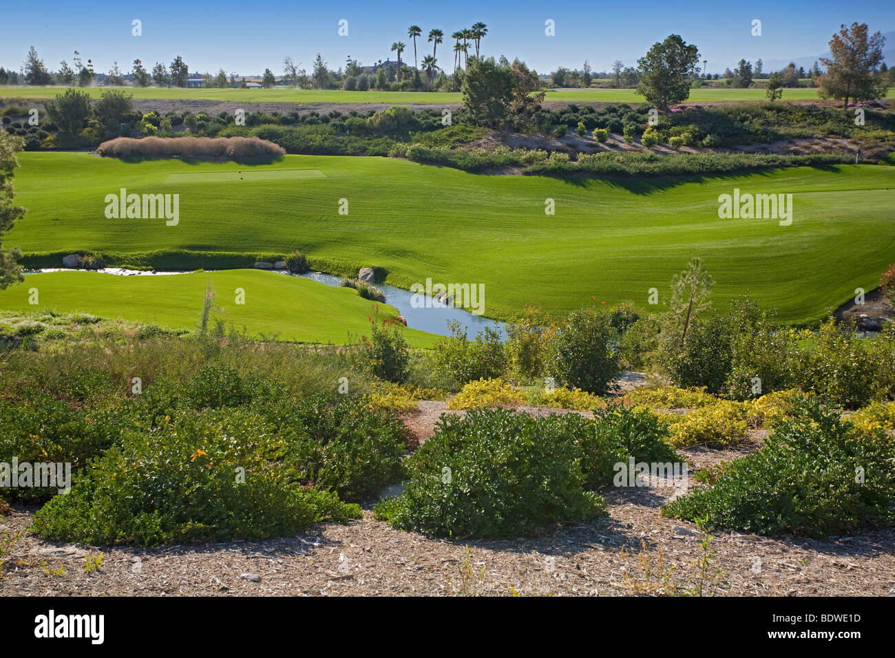 view of stream at the madison club golf course stock photo royalty free image 25760713 alamy. Black Bedroom Furniture Sets. Home Design Ideas