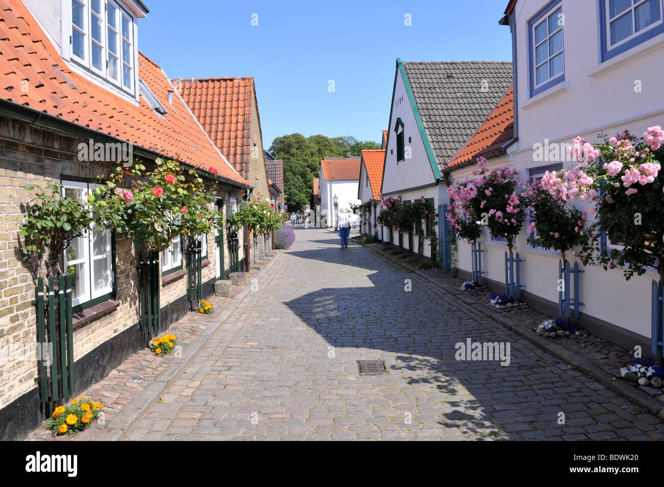 old houses in the fishing village of holm schleswig stock photo royalty free image 25764648. Black Bedroom Furniture Sets. Home Design Ideas