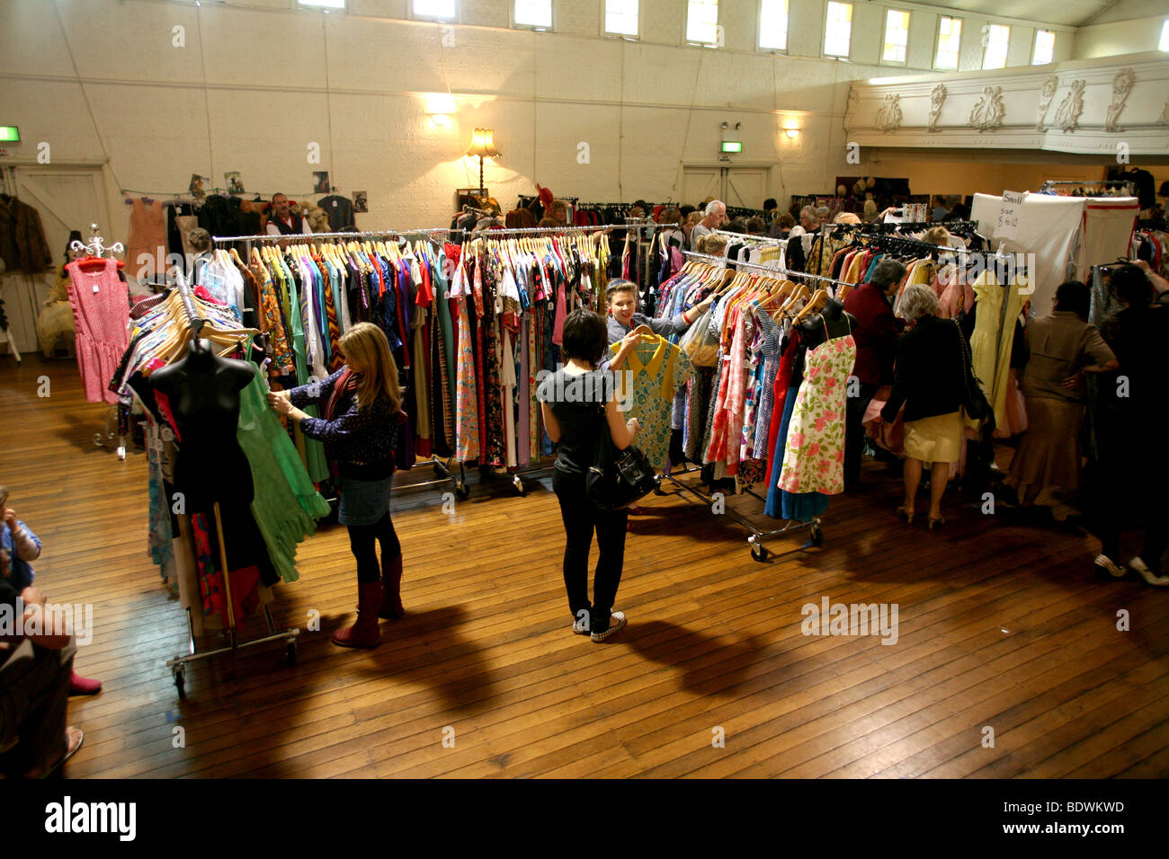 bangalow vintage clothing fair stock photo royalty