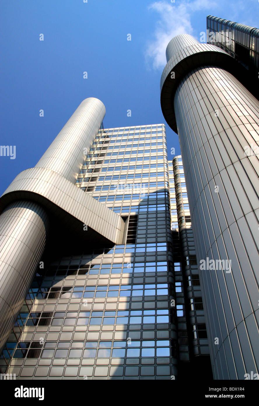Modern Architecture Europe modern architecture, hypobank bank skyscraper, munich, bavaria