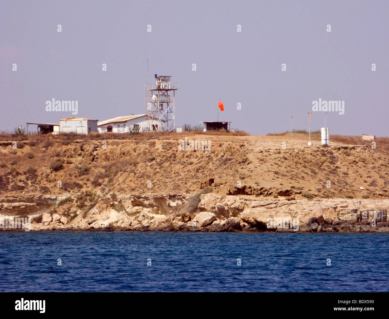 UN watchtower at the Green line near Famagusta ghost town in ...