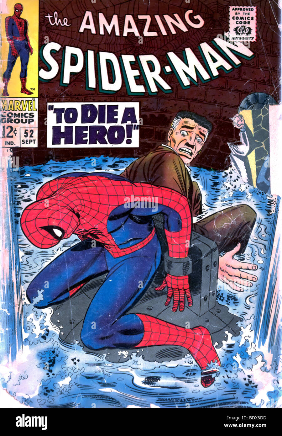 Front cover of an old spider man comic book Stock Photo ...