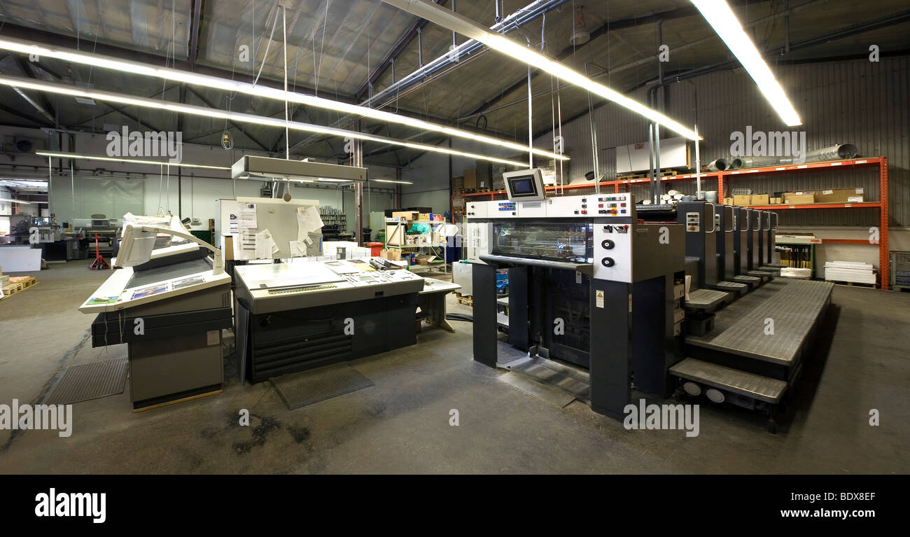 Color press printing - 6 Color Printing Machine With Coating Unit At A Printing Press Industry Printing Craft