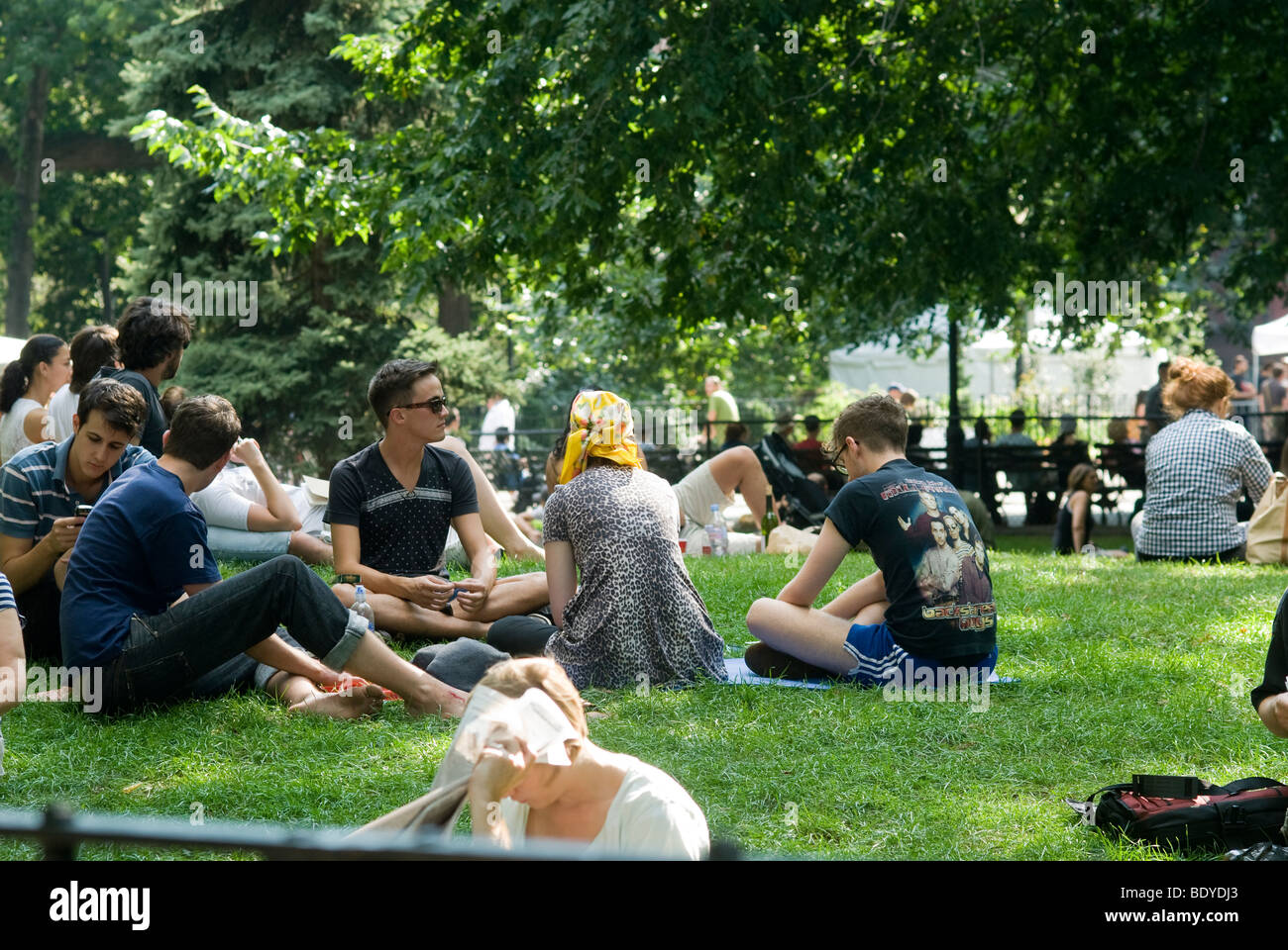 Hipsters Hang Out In Tompkins Square Park In The East Village Stock Photo Royalty Free Image