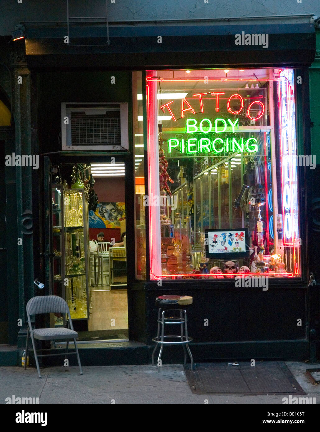 A tattoo and body piercing store in greenwich village new for Tattoo shops in new york