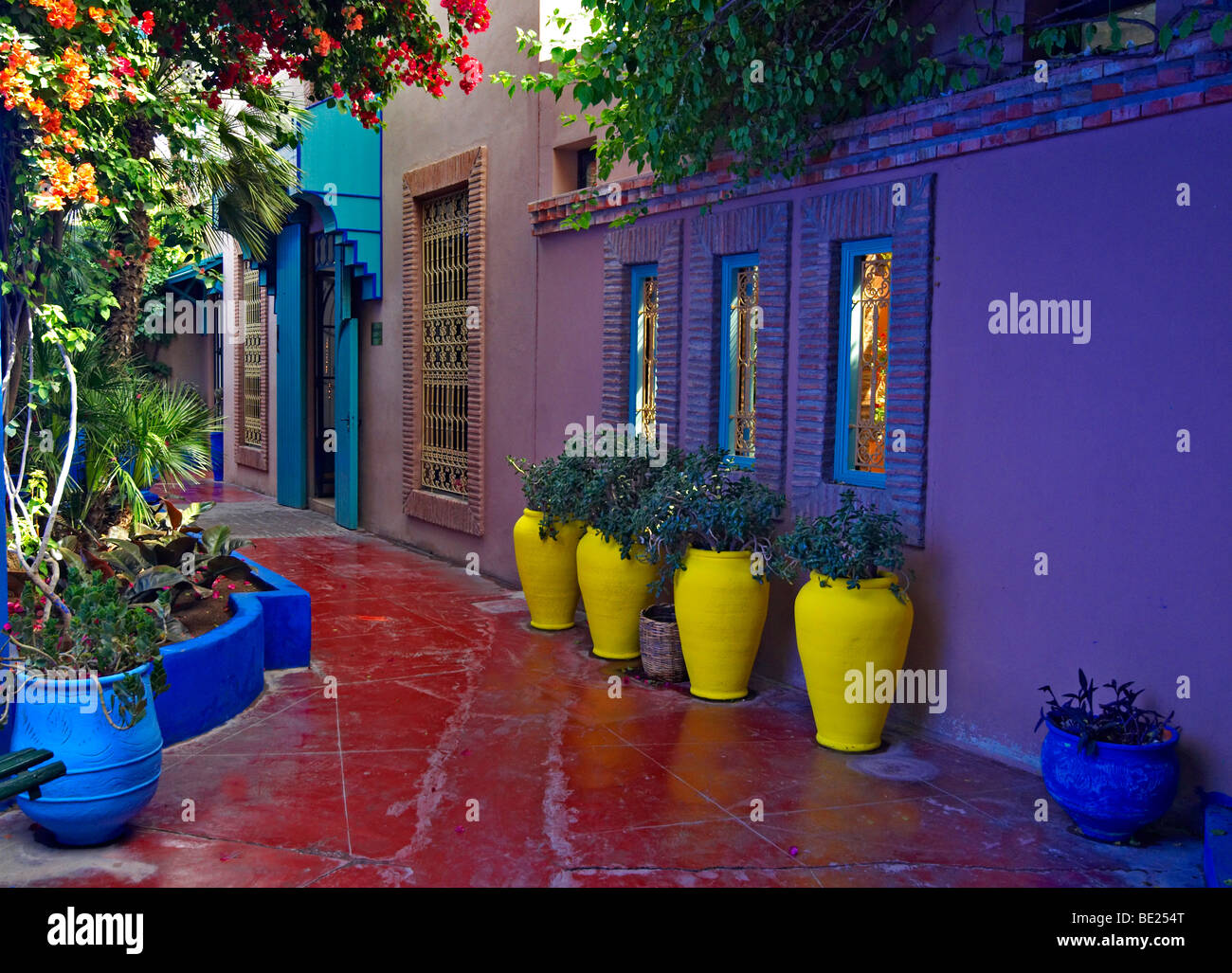 A view of the old studio of jacques majorelle now the museum and stock photo - Peintre majorelle oeuvres ...