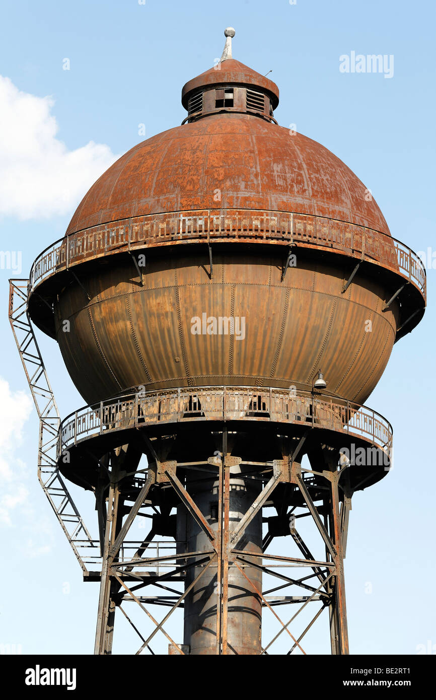 Steel Frame Towers : Historic water tower south spherical tank on a