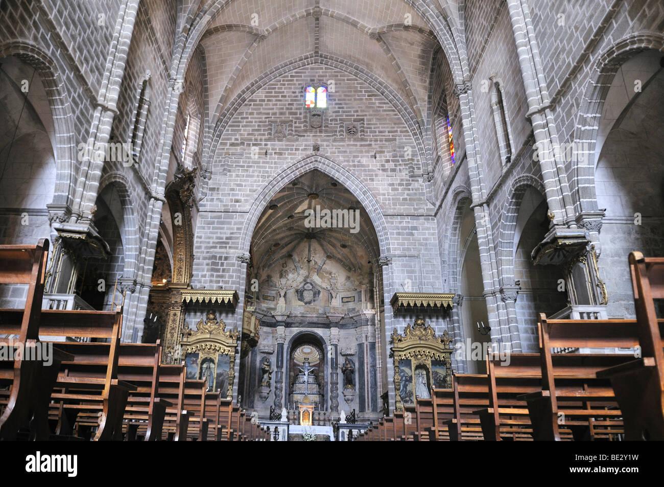 Gothic Style Interior interior of the igreja de sao francisco church, gothic style