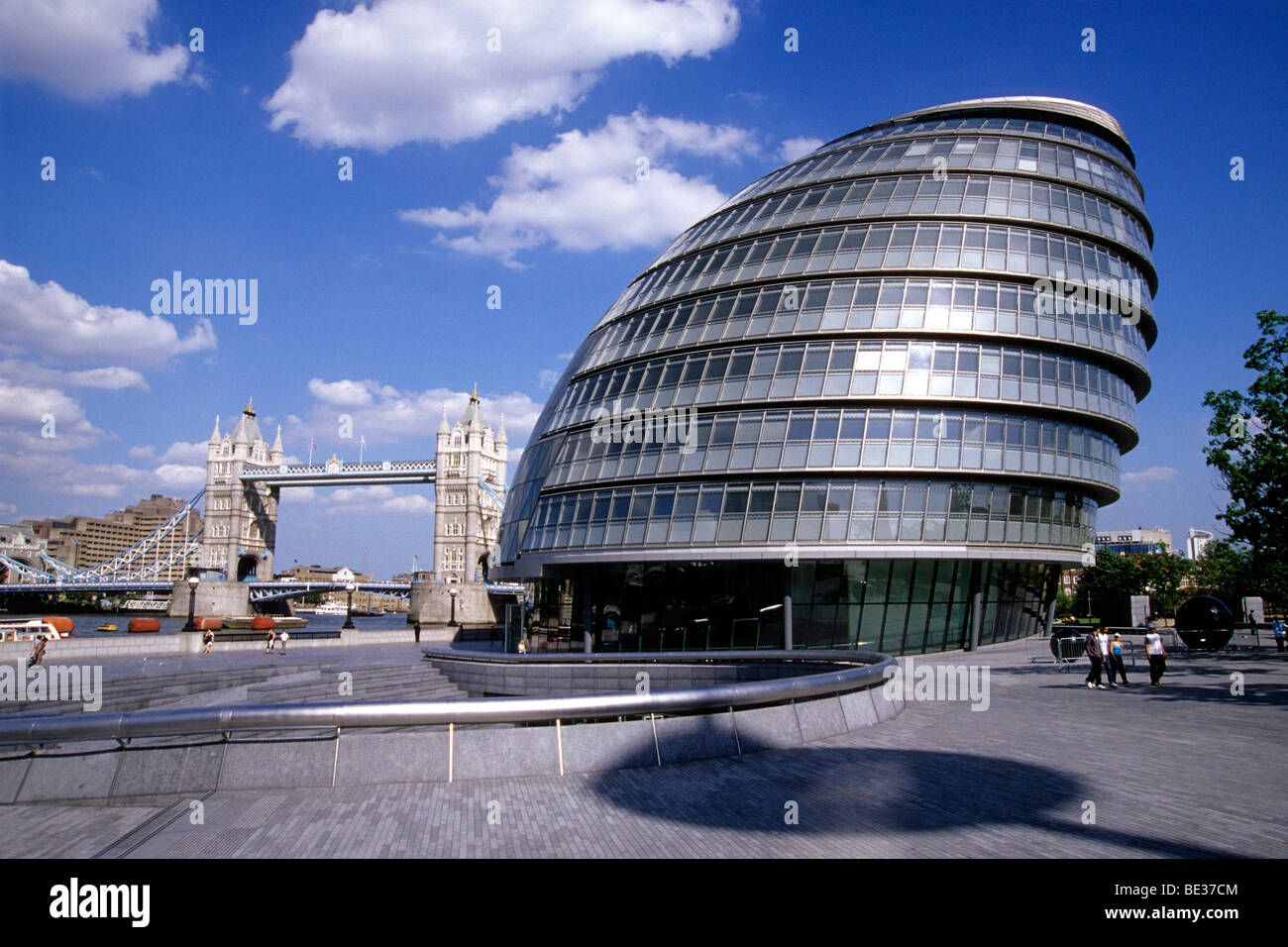 stock photo tower bridge and city hall designed by the architect norman foster futuristic city hall on the south bank of the thames bermo