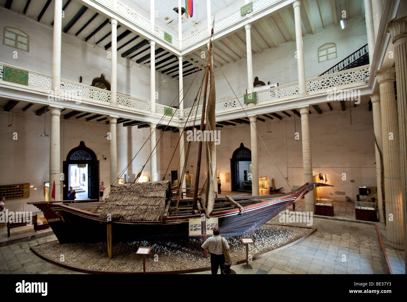 national museum house of wonders stone town zanzibar tanzania stock photo royalty free. Black Bedroom Furniture Sets. Home Design Ideas