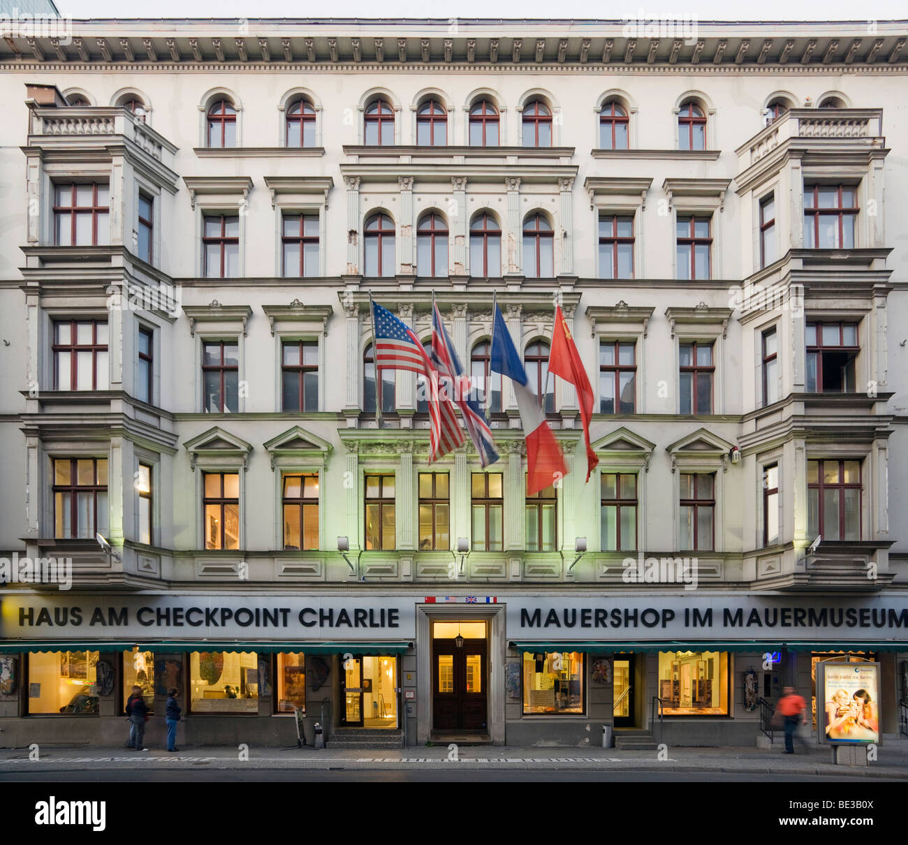haus am checkpoint charlie building mauermuseum berlin wall museum stock photo royalty free. Black Bedroom Furniture Sets. Home Design Ideas