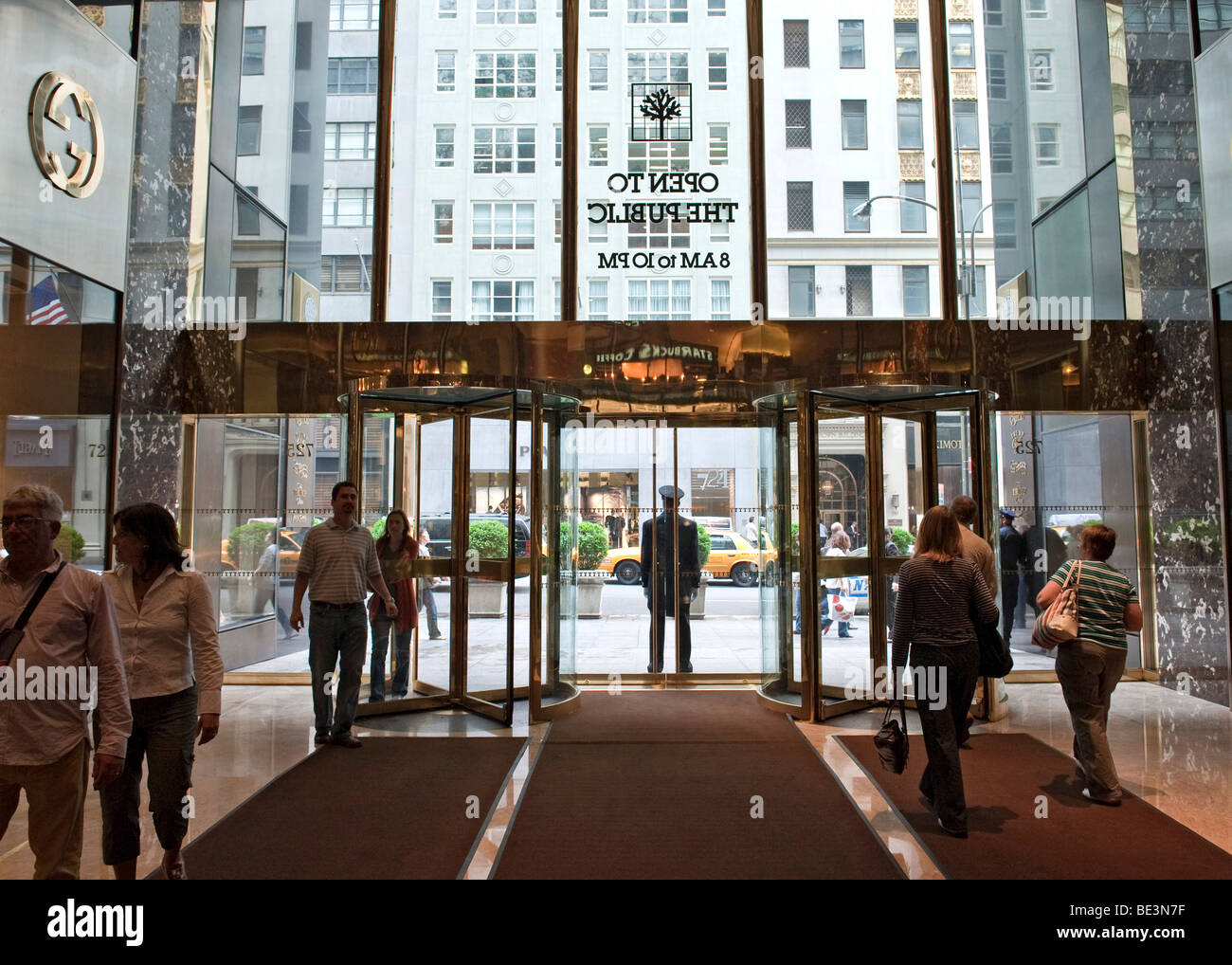 Entrance To The Trump Tower On Fifth Avenue From The