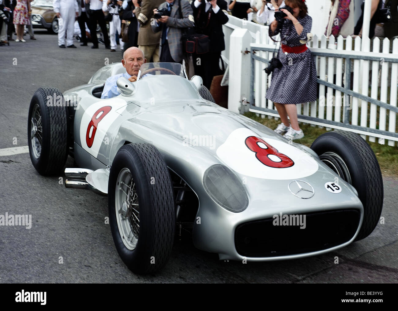 Sir stirling moss celebrates his 80th birthday driving a for Moss motors mercedes benz