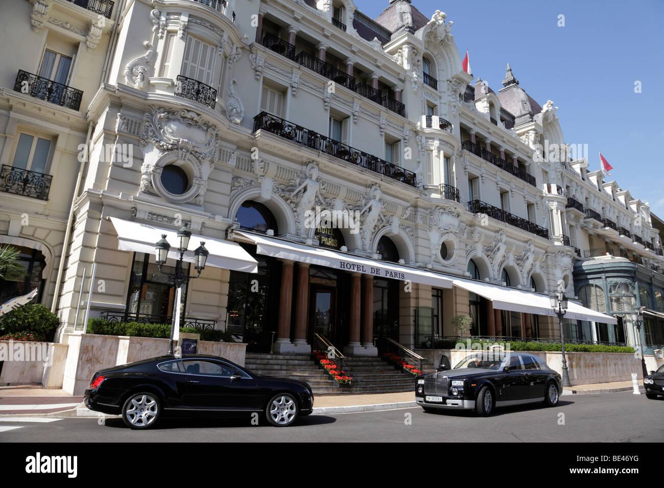 Entrance To The Famous Hotel De Paris Monte Carlo Monaco South Of France