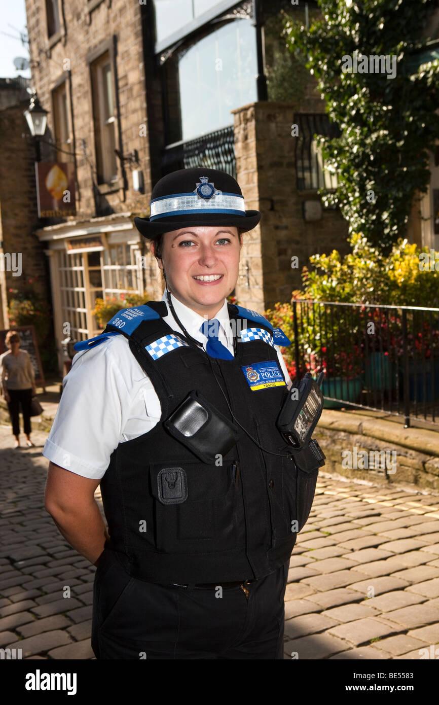 UK, England, Yorkshire, Haworth, Police Community Support Officer ...
