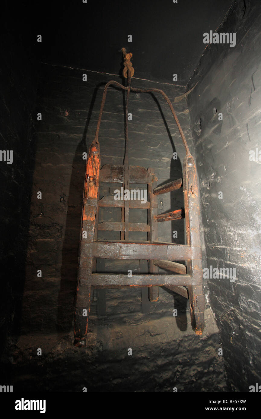 A Witches Ducking Stool Displayed At The Old Gaol House In