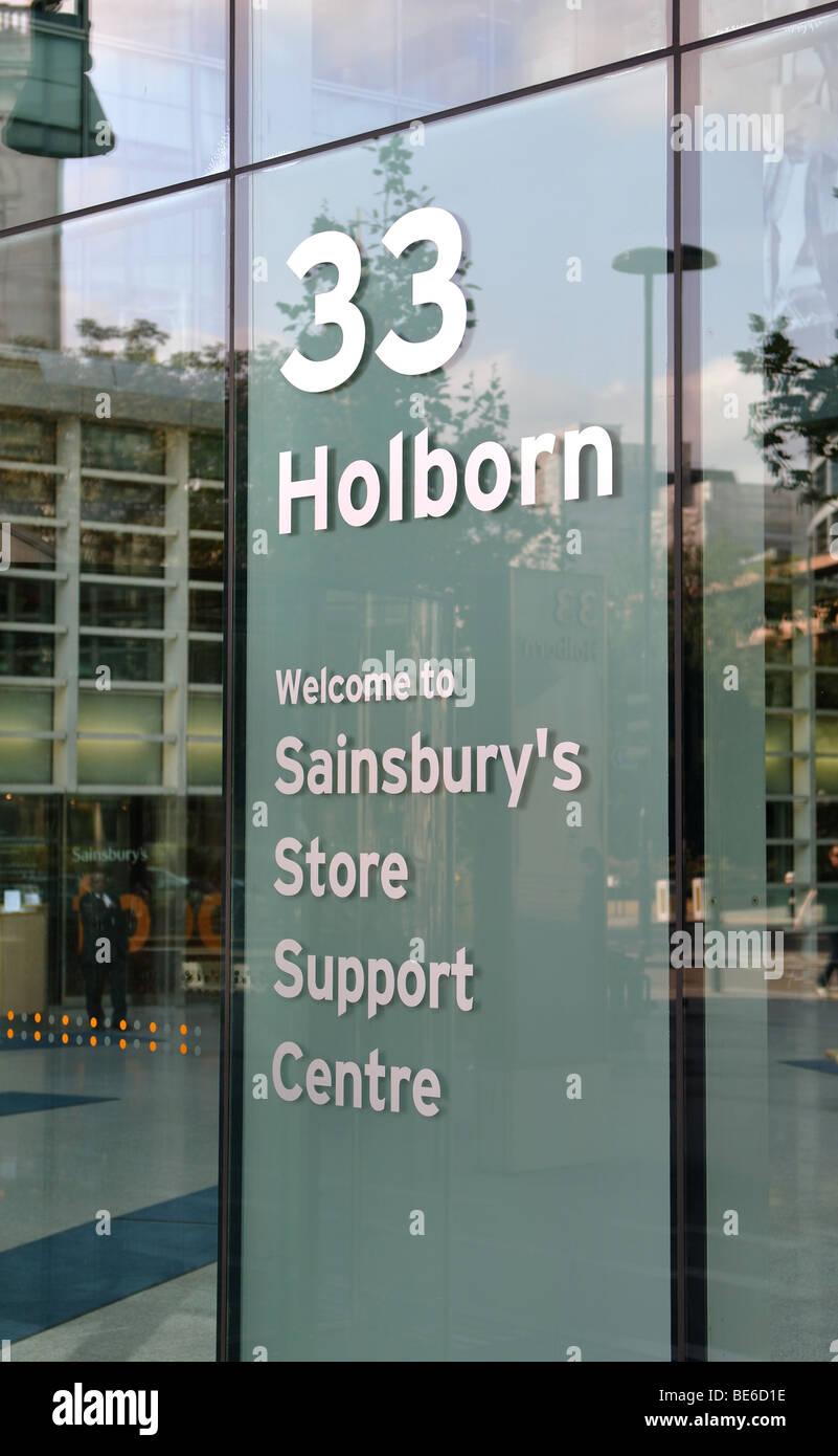 White apron sainsburys - Sainsbury S Head Office 33 Holborn London England Uk Stock