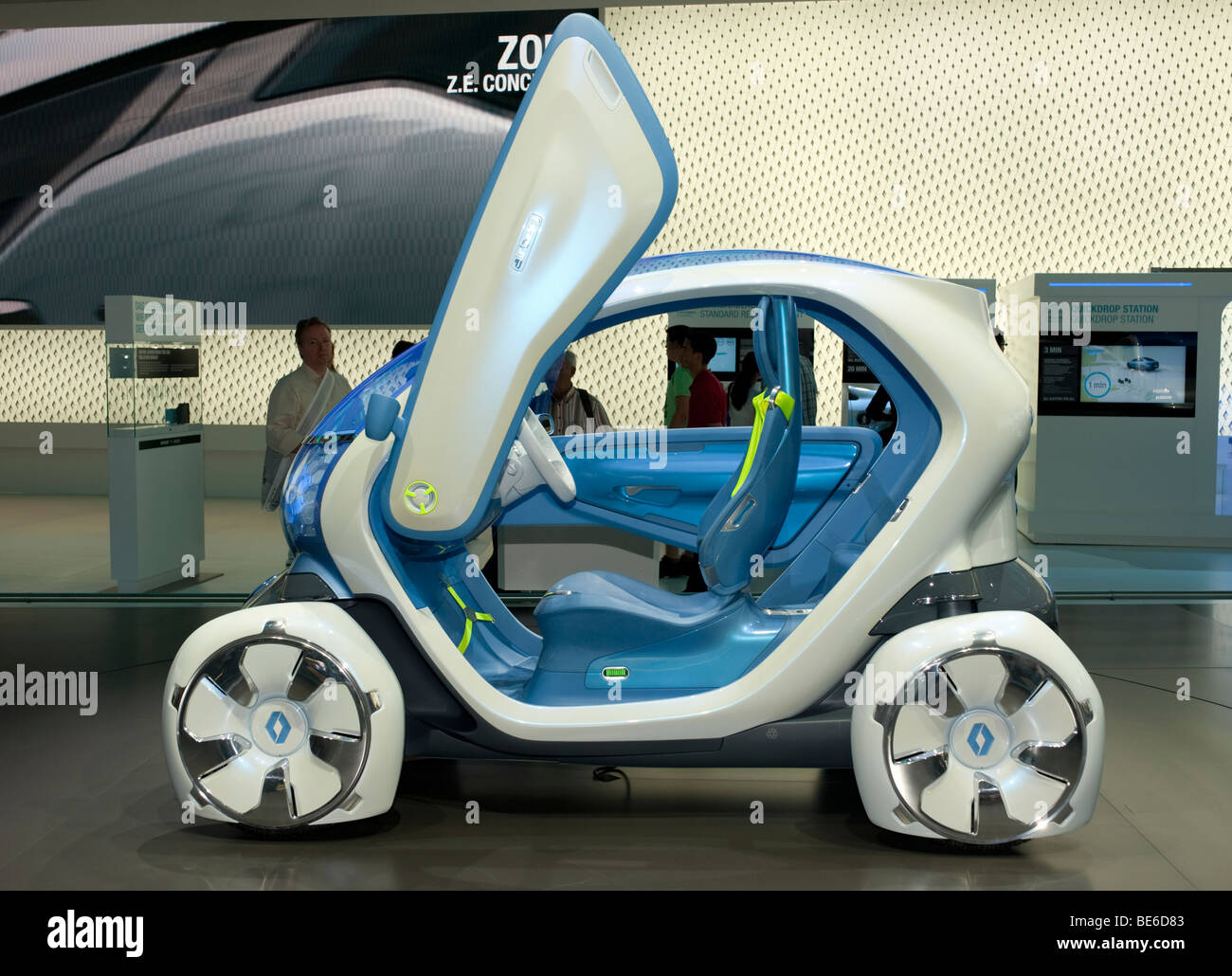renault twizy ze concept electric car at frankfurt motor show 2009 stock photo royalty free. Black Bedroom Furniture Sets. Home Design Ideas
