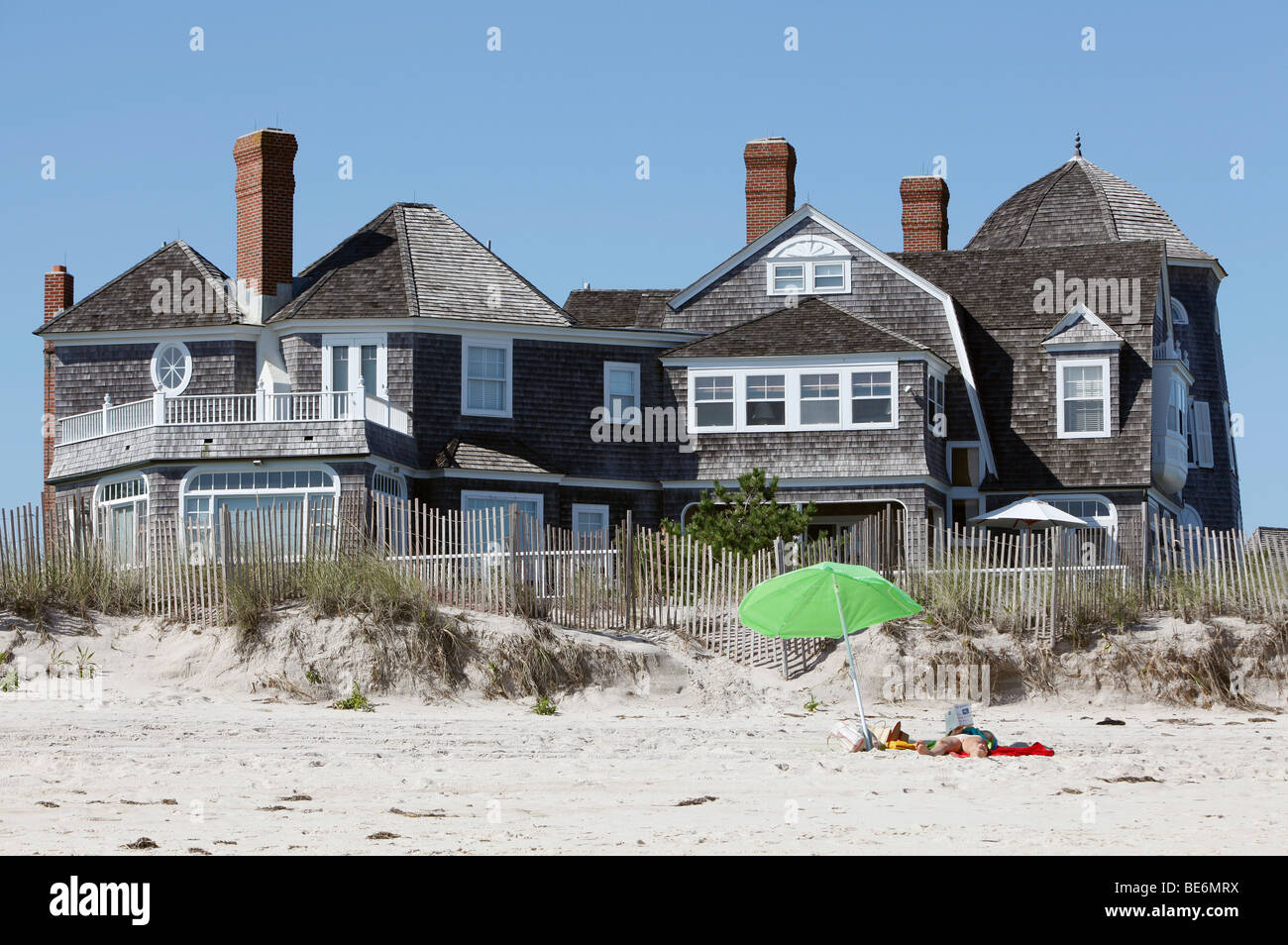 Big beach house southhampton new york stock photo for Large beach house